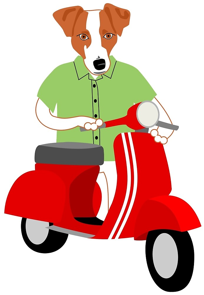 Jack Russell Terrier Vespa by pounddesigns