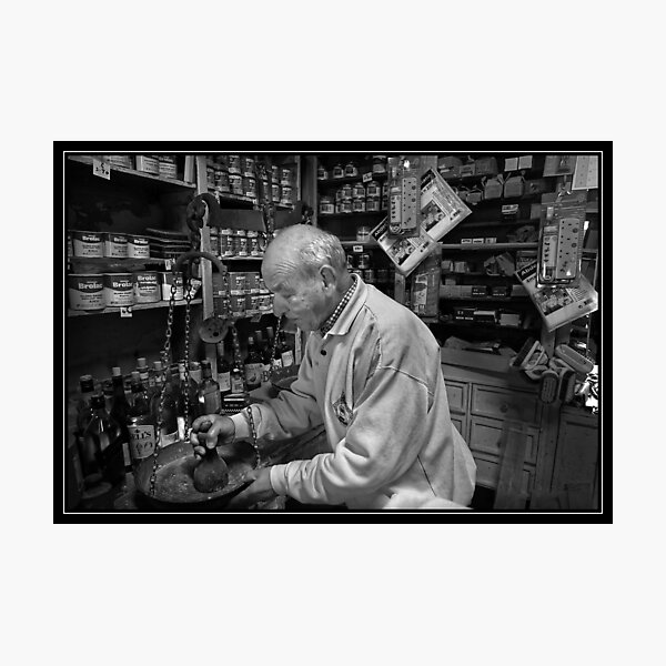 Ironmonger, Rabat Malta Mono Study Photographic Print