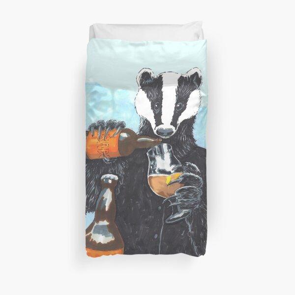 Craft Beer Badger Duvet Cover