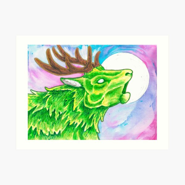 Earth Deer Spirit Art Print