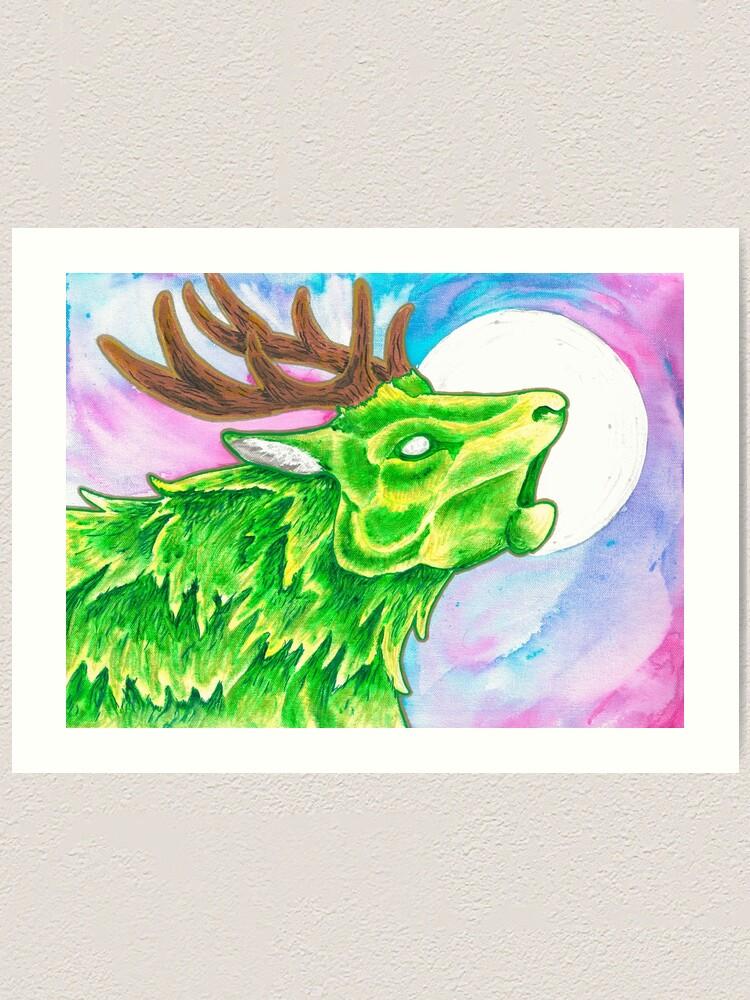 Alternate view of Earth Deer Spirit Art Print