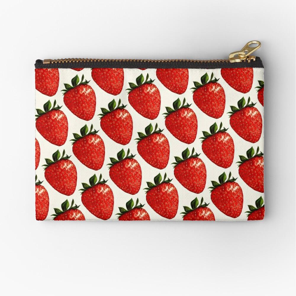 Strawberry Pattern Zipper Pouch