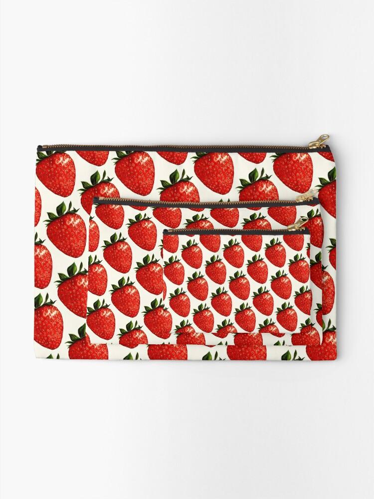 Alternate view of Strawberry Pattern Zipper Pouch