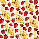 Strawberry Banana Pattern  by Kelly  Gilleran