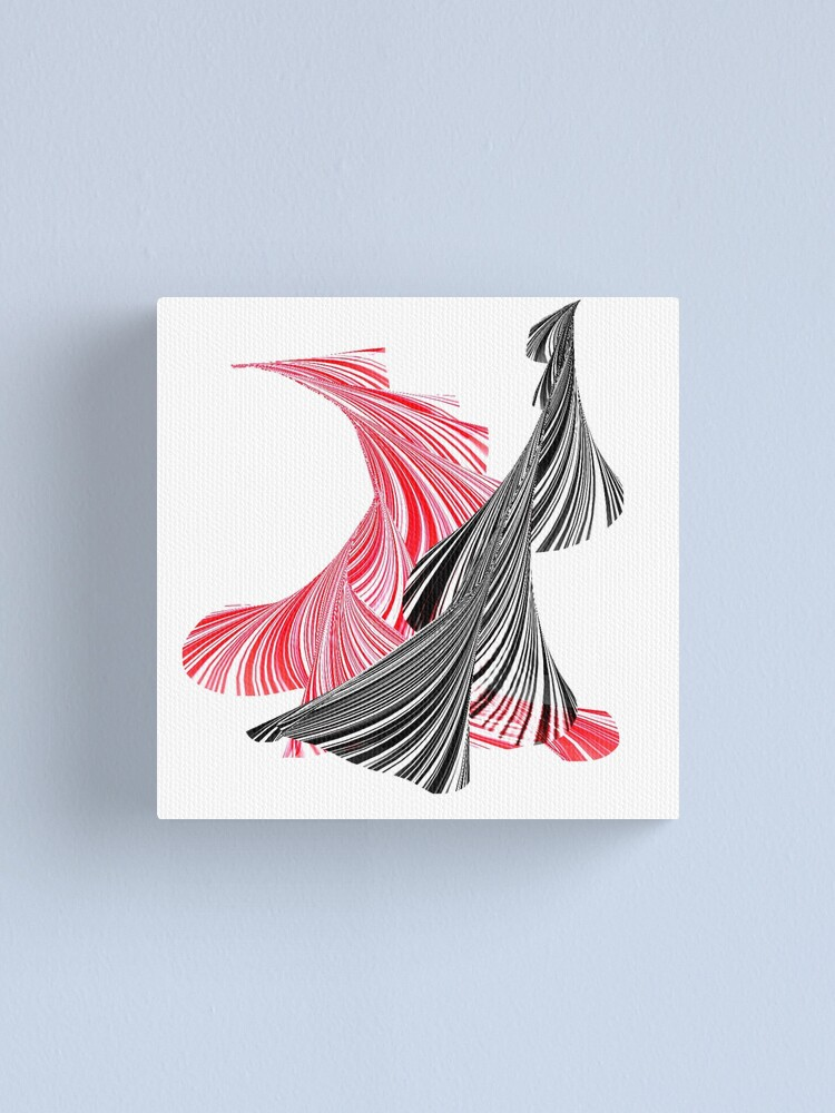 Tango For Two Minimal Abstract Digital Canvas Print By Katerina Ez Redbubble