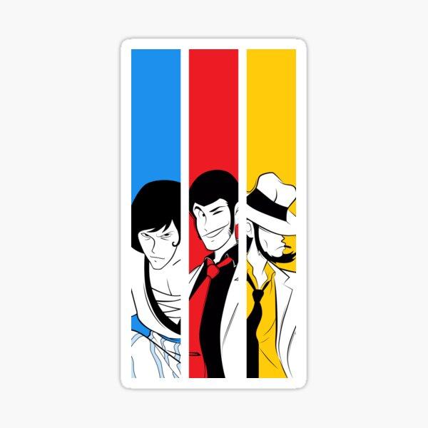 054b Lupin Trio Sticker