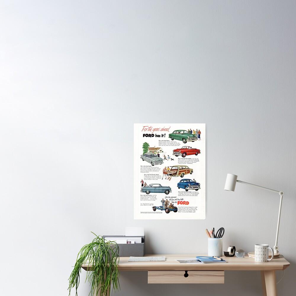 1951 Ford Model Line-up Poster