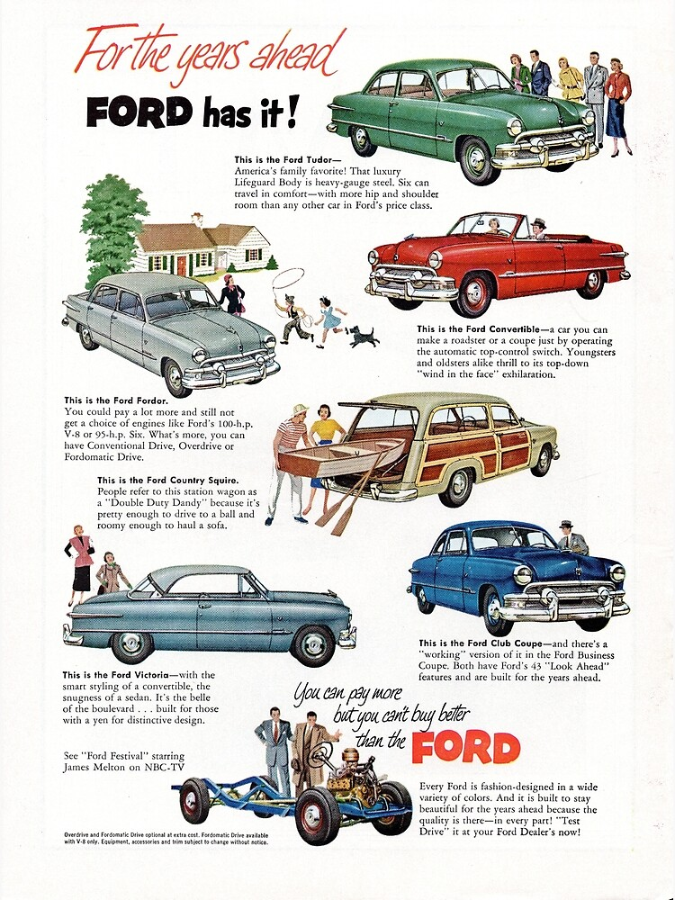 1951 Ford Model Line-up by liesjes