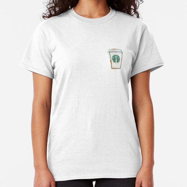 Starbucks Cup Drawing (Blue & Orange) Classic T-Shirt