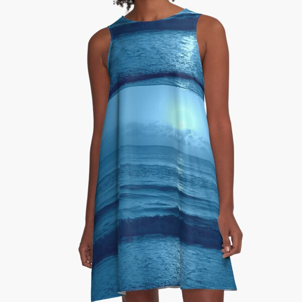 Blue Sunrise A-Line Dress