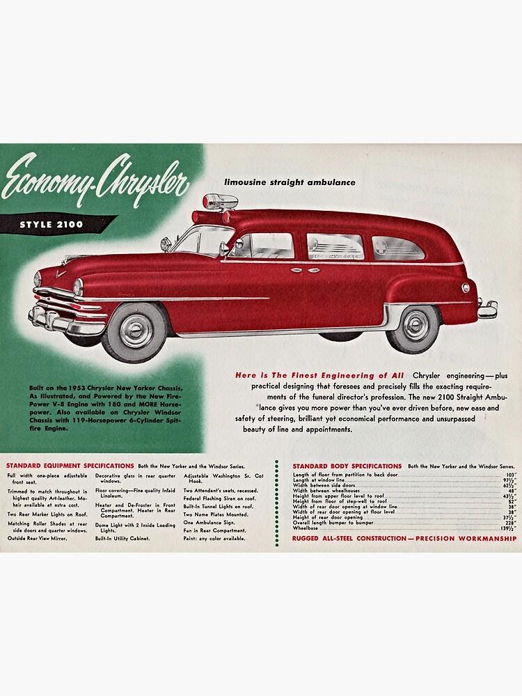1953 Economy-Chrysler Limousine Straight Ambulance advertisement by liesjes