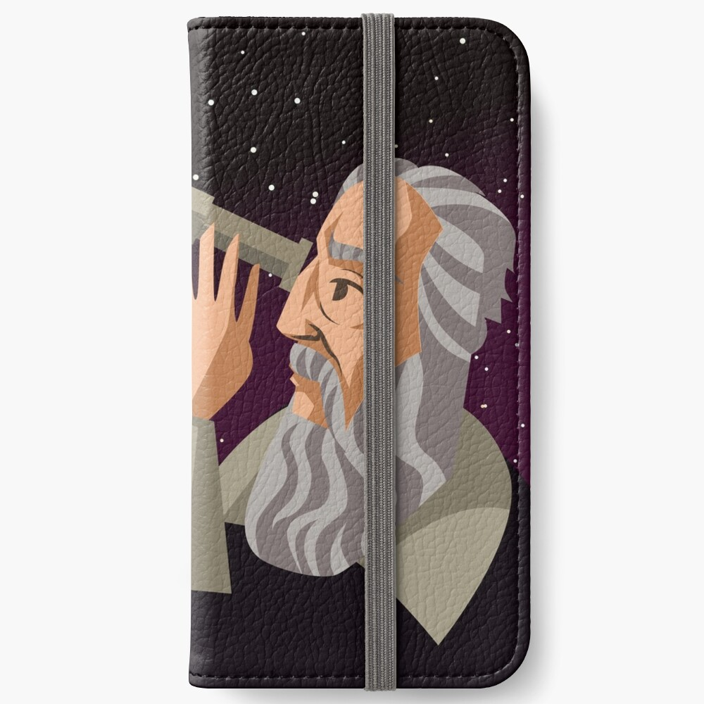 galileus watching the sky iPhone Wallet