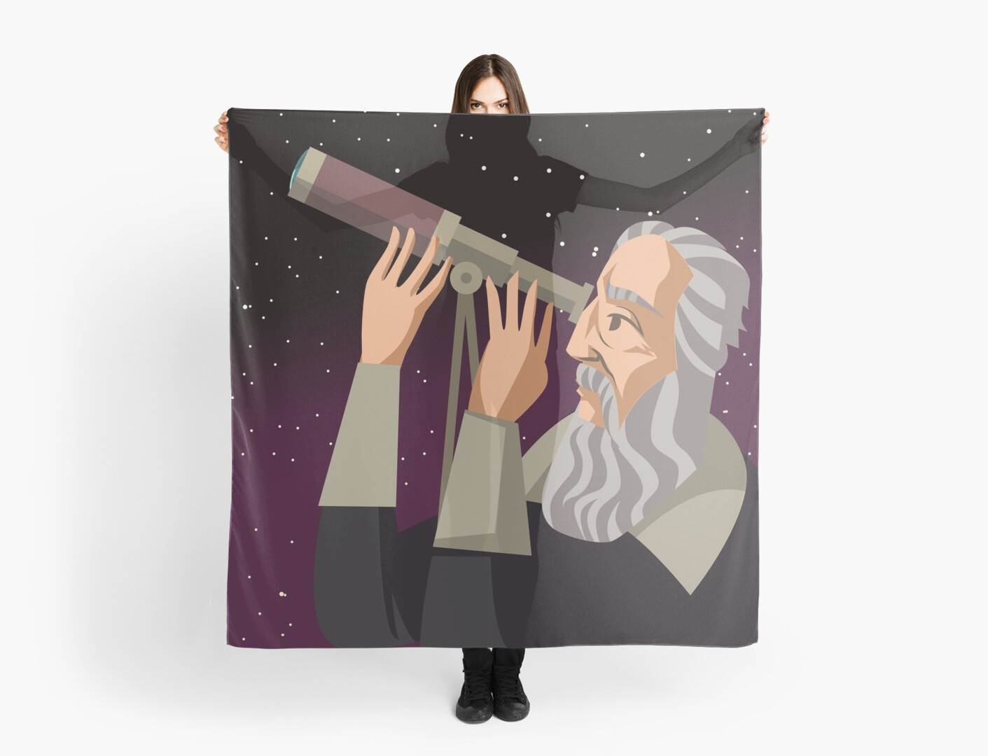 """galileus watching the sky"" Scarf by matintheworld 