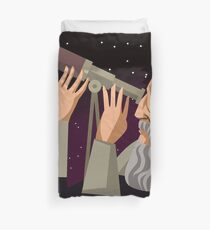 galileus watching the sky Duvet Cover