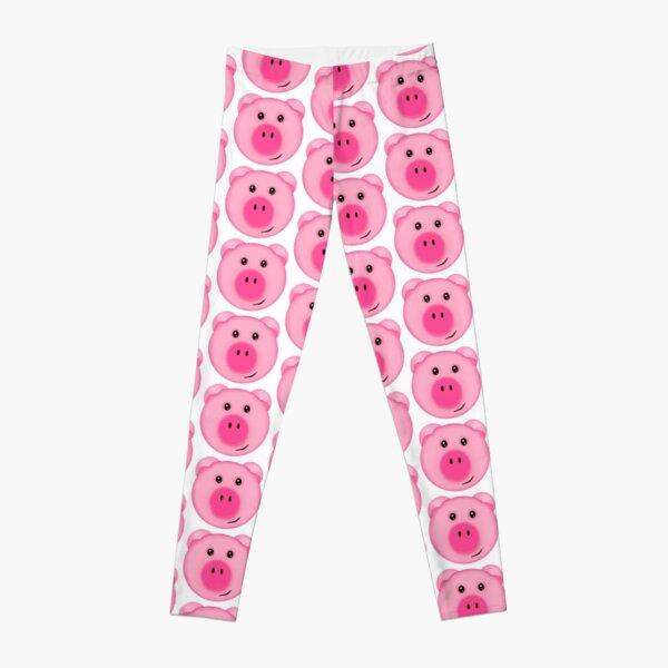 Cute Pink Farm Pig Leggings
