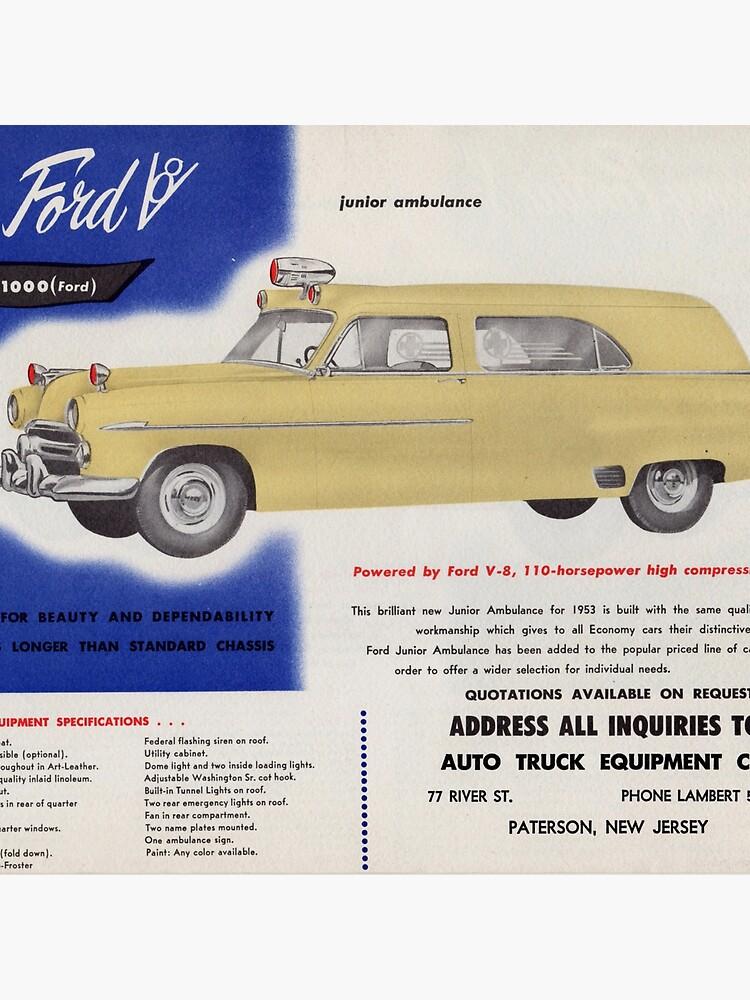 1953 Ford Junior Ambulance advertisement by liesjes