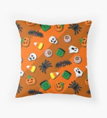 Halloween Spooky Candies Party Throw Pillow