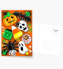 Halloween Spooky Candies Party Postcards