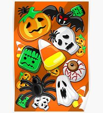 Halloween Spooky Candies Party Poster