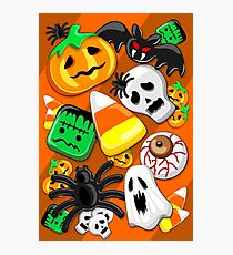 Halloween Spooky Candies Party Photographic Print