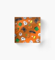 Halloween Spooky Candies Party Acrylic Block