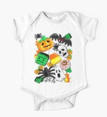 Halloween Spooky Candies Party Short Sleeve Baby One-Piece