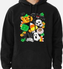Halloween Spooky Candies Party Pullover Hoodie