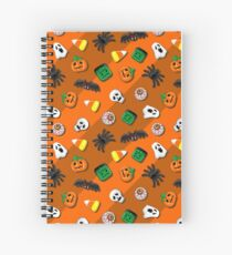 Halloween Spooky Candies Party Spiral Notebook