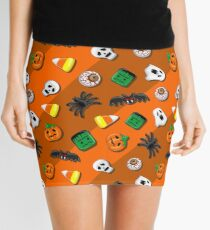 Halloween Spooky Candies Party Mini Skirt