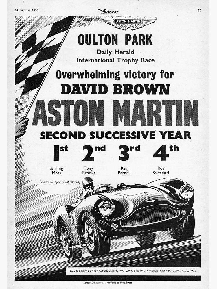 The Autocar Aston Martin DBS3 race car advertisement from 1956 by liesjes