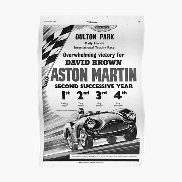 The Autocar Aston Martin DBS3 race car advertisement from 1956 Poster