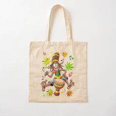 Rasta Bongo Musician funny cool character Cotton Tote Bag