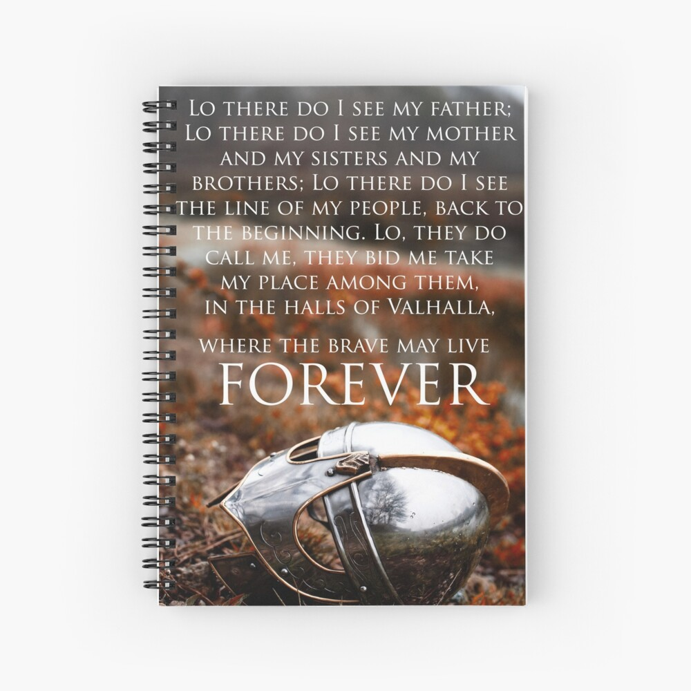 Brave May Live Forever Viking Prayer Art Print By Nikytagaia Redbubble