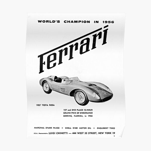 1957 Ferrari Testa Rossa advertisement Poster