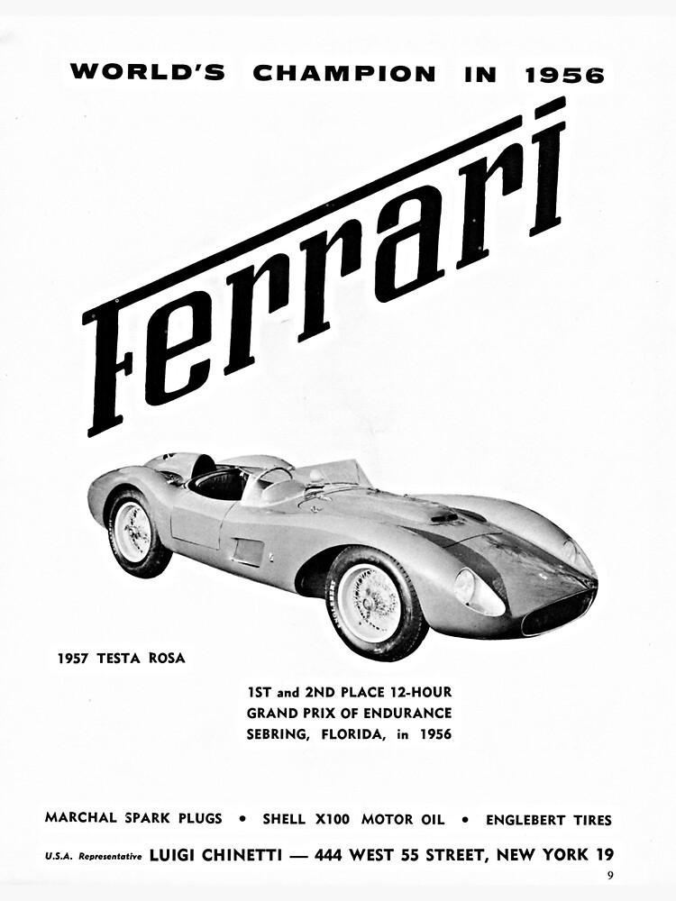 1957 Ferrari Testa Rossa advertisement by liesjes