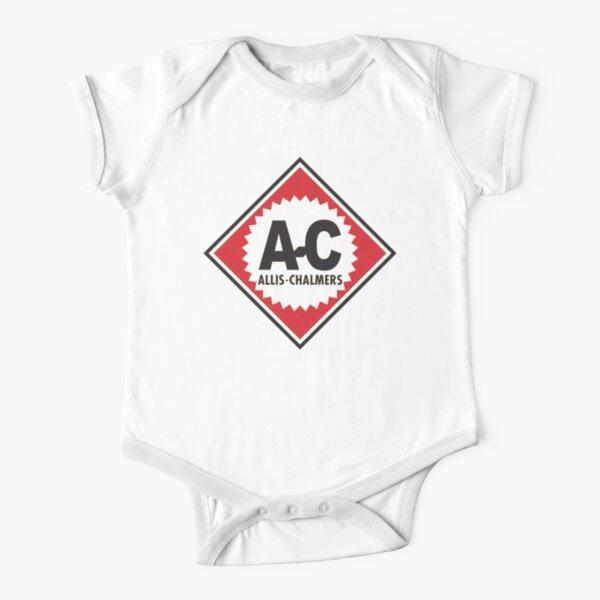 Logotipo de Allis Chalmer A-C vintage Body de manga corta para bebé