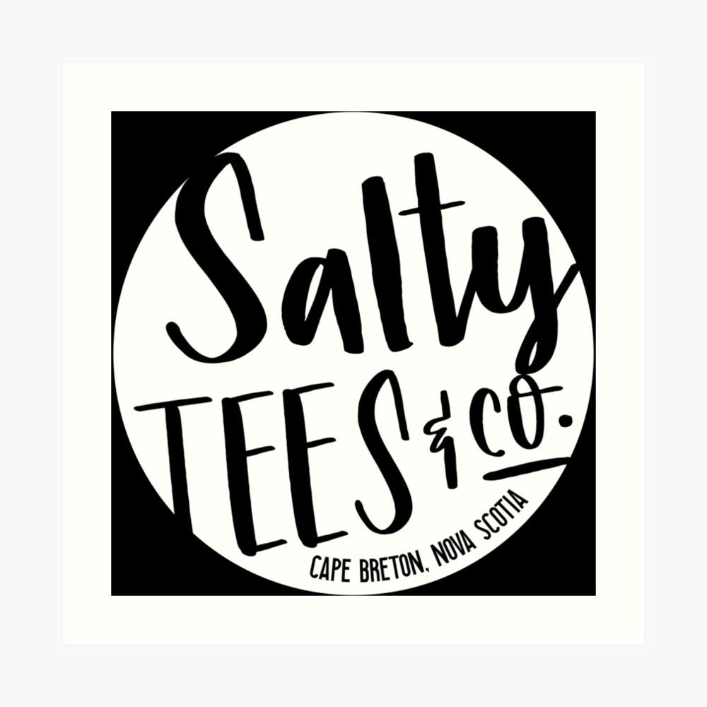 Salzige Tees & Co. Logo (weiß) Kunstdruck
