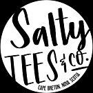 Salzige Tees & Co. Logo (weiß) von saltyteesandco