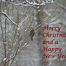 Merry Christmas Cardinal by DebbieCHayes