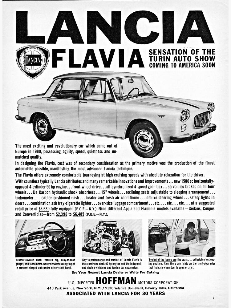 Lancia Flavia Sedan advertisement from Beverly Hils, California, USA 1961 by liesjes
