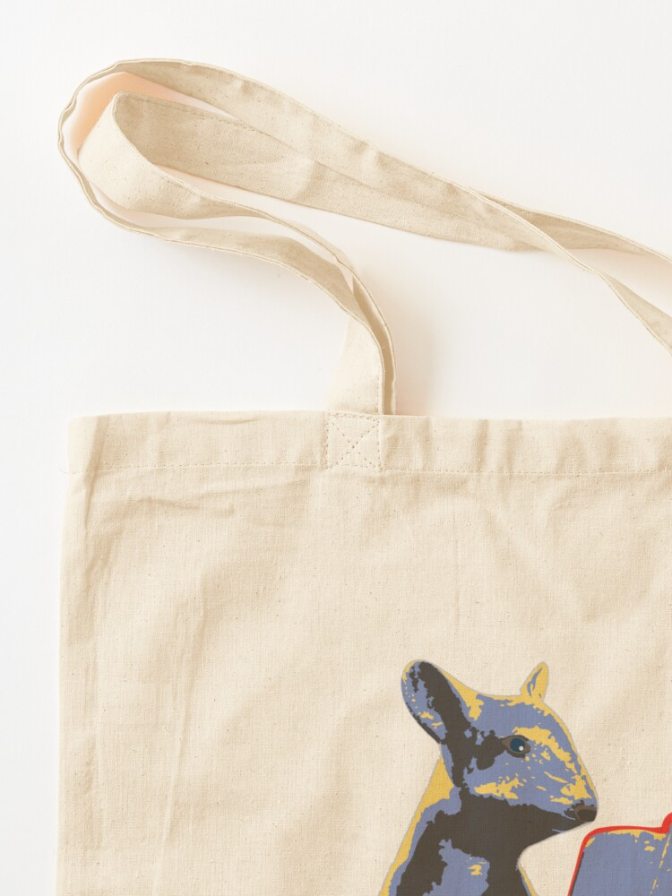 Alternate view of Book Mouse - blue Tote Bag