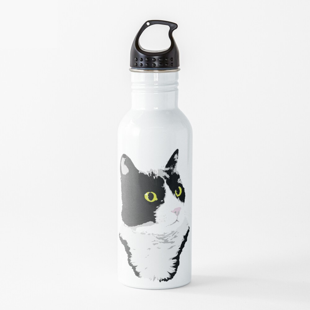 Regal Tuxedo Kitty Water Bottle