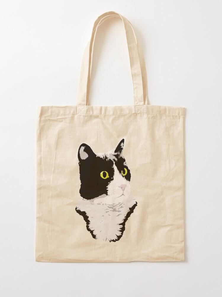 Alternate view of Regal Tuxedo Kitty Tote Bag
