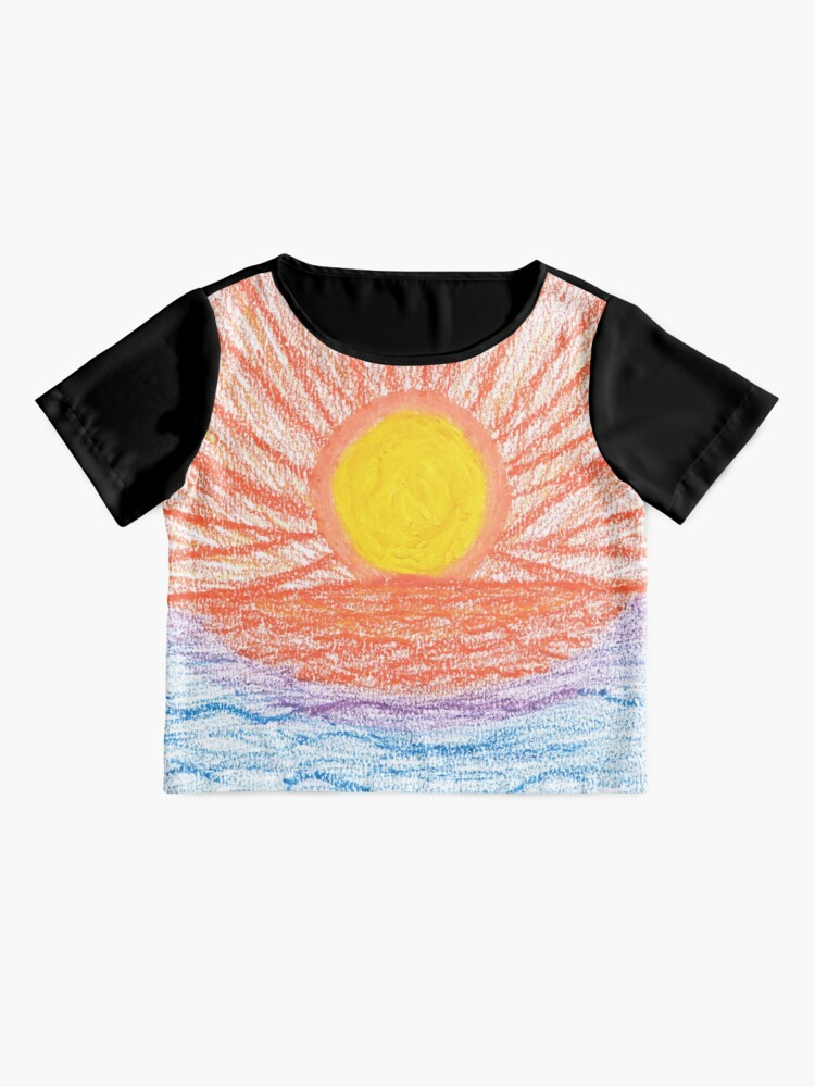 Alternate view of Merch #28 -- Sea Sunset Chiffon Top