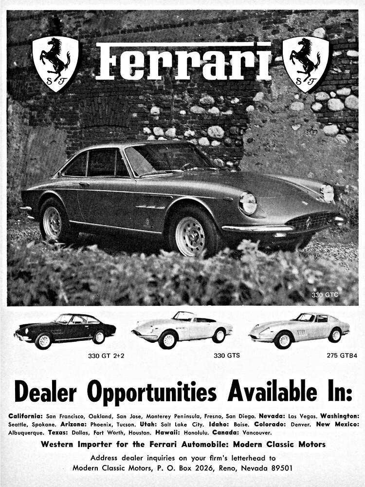 Ferrari 330 GT 2+2, 330 GTS & 275 GTB4 advertisement 1968 by liesjes