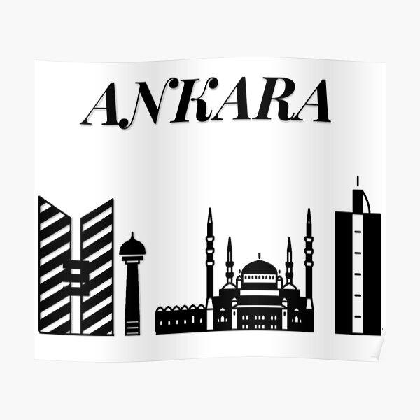 Ankara Skyline, Turkey, Turkish Capital Poster