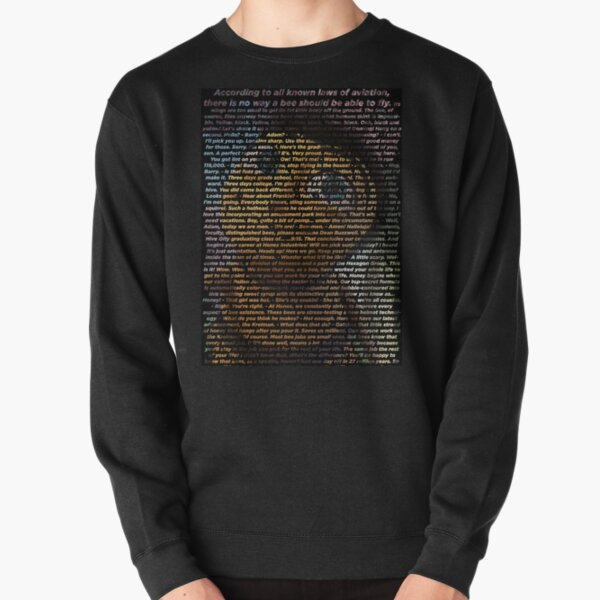 bee movie script ( you can read it) high quality Pullover Sweatshirt