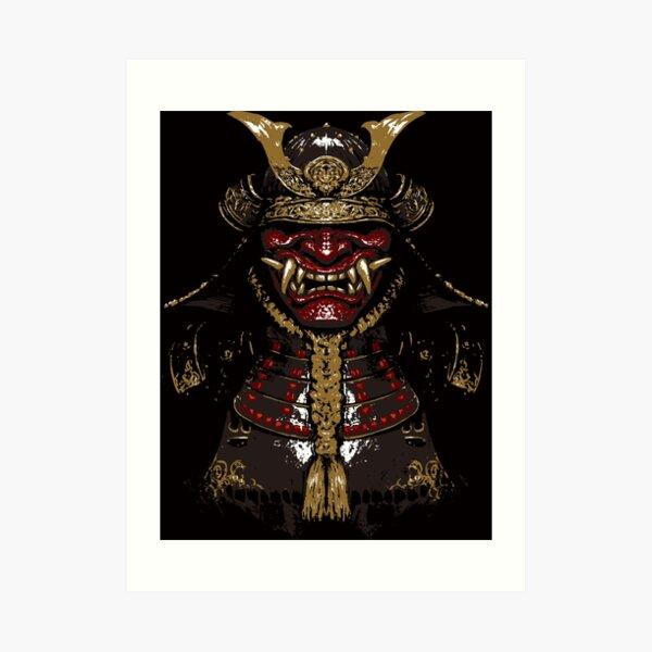 Oni Samurai  Art Print