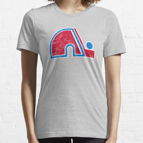 Quebec Nordiques Distressed Logo - Defunct Hockey Team - The Northerners - Nordiques de Québec - Canadian Hockey Essential T-Shirt