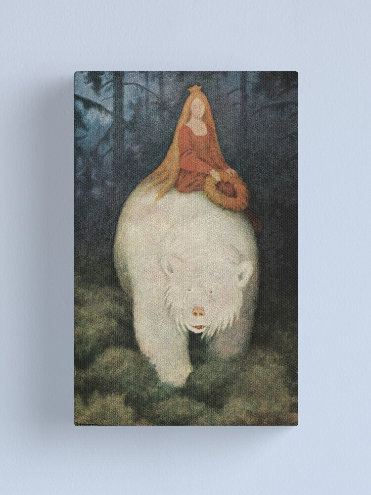 Alternate view of Postcard Theodor Kittelsen Hvitebjørn kong Valemon  Canvas Print
